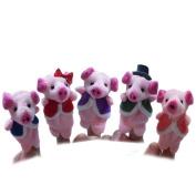 Hand Puppets for Kids ,Vanvler 5pcs Animal Finger Puppets Child Plush Toys Baby Early Educational Toys Gift