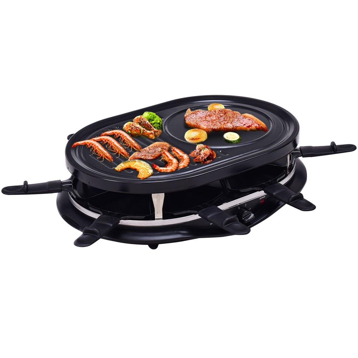 Raclette Grill Australia costzon raclette grill 1200w for 8 non stick grill plate by