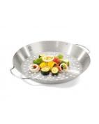 Gefu 89156 Chicken Roaster & Vegetable Wok, Silver