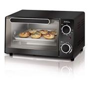 Sunbeam 4-Slice Toaster Oven, Black, Compact Size, Front Glass Door