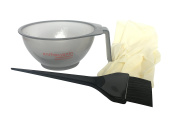 Beauty Salon Hair Colouring Dyeing Kit Includes Colour Brush & Mixing Bowl & Salon Latex Gloves