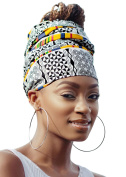 White & Yellow Royal African Headwrap