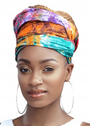 Queen Tyra Multi Colour Tie Died African Headwrap