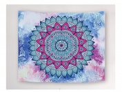 WCHUANG Floral Tapestry Boho Mandala Tapestries, Wall Hanging Home Decor