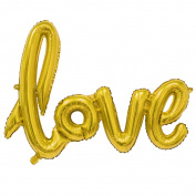 BetterM Party Decorative Love Foil Balloons for Birthday or Party Decor