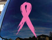 Breast Cancer Awareness Ribbon Pink Car Window Vinyl Decal Sticker