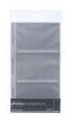 American Crafts Page Protectors side-Loading - 15cm x 30cm for 4x 6 Photos - 20/pkg - 2-Pack