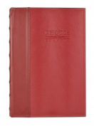Golden State Art, Maroon Leatherette Vintage Cover Photo Album, Holds 300 4x6 Pictures, 3 Per Page
