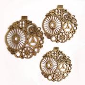 Creative Embellishments Steampunk Ornaments Laser Cut Chipboard - 3 piece set
