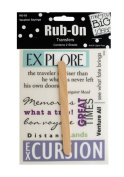 JT Scrapbooking Craft Activity Vacation Sayings Rub-On Transfers - 24 Pack