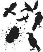 Tim Holtz Cling Stamps 18cm x 22cm -Ravens
