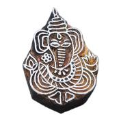 Lord Ganesha Printing Scrapbook Handmade Stamps Textile Clay Potter Block Craft Heena Tattoo