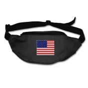 American Flag Adjustable Belt Waist Pack Waist Bag Running Pack Convenient For Men Women