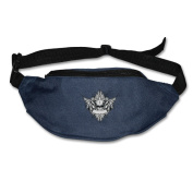 Personality Skull Head Adjustable Belt Waist Pack Waist Bag Running Pack Travel For Men Women
