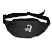Skull Head Adjustable Belt Waist Pack Waist Bag Running Pack Cycling For Men Women