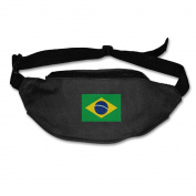 Brazilian Flag Adjustable Belt Waist Pack Waist Bag Running Pack Cycling For Men Women