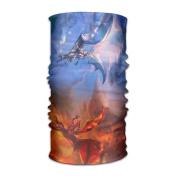 ZQQZ Fantasy Dragon Good Vs Bad Multifunctional Magic Headwear 12-in-1 Men & Women Tube Scarf Facemask Headbands Neck Gaiter Bandana Balaclava Helmet For Outdoor Running Yoga Work Out