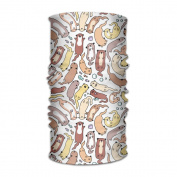ZQQZ Lazy Otter Stretch Multifunctional Magic Headwear 12-in-1 Men & Women Tube Scarf Facemask Headbands Neck Gaiter Bandana Balaclava Helmet For Outdoor Running Yoga Work Out