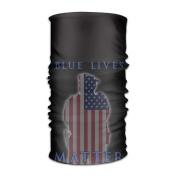 ZQQZ US Blue Lives Matter Multifunctional Magic Headwear 12-in-1 Men & Women Tube Scarf Facemask Headbands Neck Gaiter Bandana Balaclava Helmet For Outdoor Running Yoga Work Out