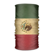 ZQQZ Mexican Flag Vintage Multifunctional Magic Headwear 12-in-1 Men & Women Tube Scarf Facemask Headbands Neck Gaiter Bandana Balaclava Helmet For Outdoor Running Yoga Work Out