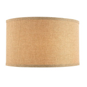 Linen Large Drum Lamp Shade with Spider Assembly - 43cm Wide