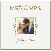 "Personalised Wedding or Anniversary Photo Album ""Mr & Mrs. "" Holds 200 4x6 Photo"