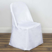 Efavormart White Folding Chair Cover-Flat--PACK OF 5