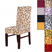 SHZONS™Super Fit Stretch Removable Washable Short Dining Chair Cover Protector Seat Slipcover for Hotel,Dining Room,Ceremony,etc.