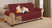 Deluxe Reversible EXTRA WIDE Sofa Furniture Protector, Black / Grey