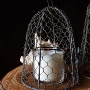 Chicken Wire Cloche, 25cm tall, Vintage, Rustic Barn Roof Finish