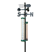 Weather Vane With Rain Gauge & Thermometer