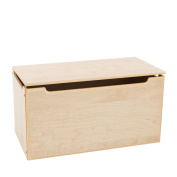 Max & Lily Natural Wood Kid and Toddler Toy Chest, Natural