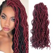 Faux Locs Curly 50cm Crochet Braids Synthetic hair extension 100% Kanekalon Fibre for African American women Crochet Braiding hair