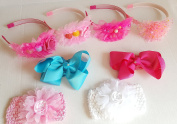 Luxe Hair Accessories 8 Pcs. Elastic Hairband Set