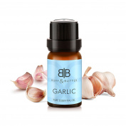 Garlic (Allium Sativum) Oil - 100% Pure & Natural Therapeutic Grade Garlic Essential Oil, Best for Natural Hair Growth, Healthy Scalp, Dandruff, Skin, Acne, Ear Infections, Improves Heart Health, Maintain Cholesterol Levels and Aromatherapy