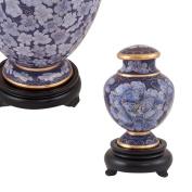 Perfect Memorials Purple Flowers Cloisonne Keepsake Cremation Urn