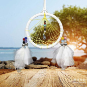 Inverlee New Fashion Home Handmade Decoration Dream Catcher with Crystal Beads Gift Feather Bead Net With Feathers Wall Hanging Decoration Ornament