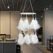 Inverlee New Fashion Home Handmade Decoration Dream Catcher Gift Feather Bead Net With Feathers Wall Hanging Decoration Ornament