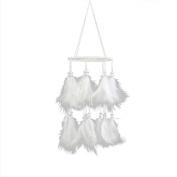 Owill White Lantern Pattern Handmade Dream Catcher Bead Hanging Home Ornament Gift