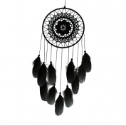 DEESEE(TM) Dream Catcher Handmade Lace Feather Bead Hanging Decoration DreamCatcher Ornament Gift