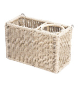 Prospect Hill Wicker Magazine Rack Attachment, Cloud White