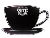 Coffee Break Cup/Saucer Chalkboard Message Board by DEI