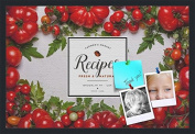 PinPix decorative pin cork bulletin board made from canvas, Recipe Board with Heirloom Tomatoes 80cm x 50cm (Completed Size) and framed in Satin Black