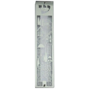 Clear Mezuzah Case With Laser Cut Metal Plate With Jerusalem Design