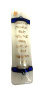 Baby Blessing Mezuzah Bless This Baby Who Will Bring Love, Joy and Happiness into Your Life Gift Box Non Kosher Scroll Included Hand Made in USA Guaranteed for Life