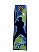 EASY MOUNT Glass Baseball Player Art Glass Mezuzah, GIFT BOX and Non-Kosher Scroll INCLUDED. Great Mezuzah for Bar or Bat Mitzvah Gift, Sports Lover, Kids Room, Dorm