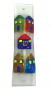 Mezuzah, Glass Houses GIFT BOX and Non-Kosher Scroll INCLUDED. Great Mezuzah for Bar or Bat Mitzvah Gift, Wedding, House Warming or Enjoy in Your Home!
