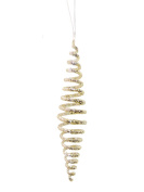 Christmas Traditions Ornament - Spiral Glass - Silver - 25cm