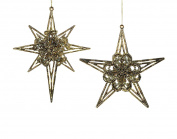 Christmas Traditions Ornament - Gold Star & White Snowflake