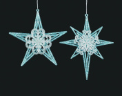 Christmas Traditions Ornament - Blue/Silver Star & White Snowflake